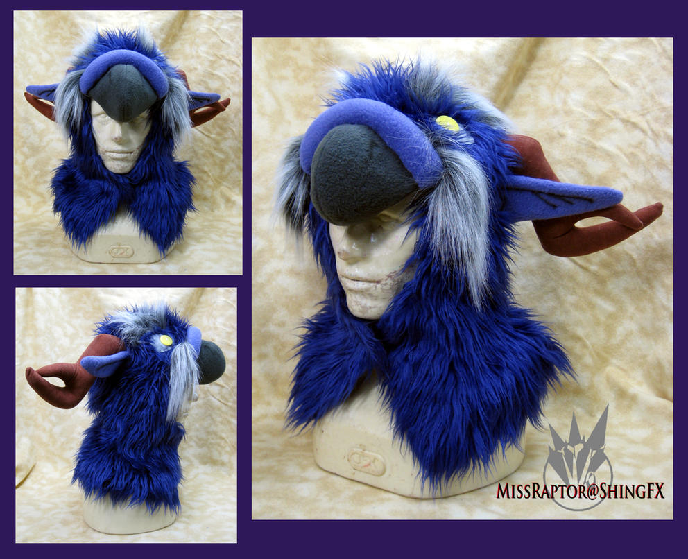 Night Elf Moonkin Hoodie Hat by MissRaptor
