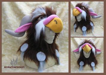 Tauren Moonkin Hoodie Hat by MissRaptor