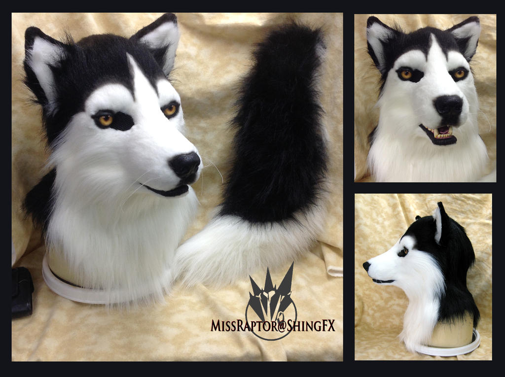 Husky mask and tail--artistic liberty partial by MissRaptor