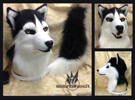 Husky mask and tail--artistic liberty partial