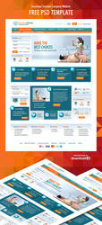Insurance Solution Company Website PSD Template by amandhingra