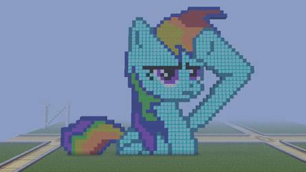 Minecraft pixel art : Rainbow Dash Salute