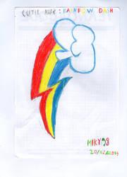 [Sketch] My draw : cutie mark rainbow dash :D