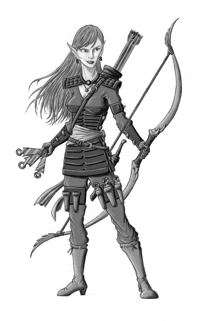 female elf rogue by andrewdefelice on deviantart