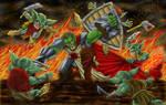 Half-Orc Paladin vs. Goblins