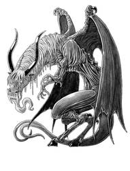 Jersey Devil commission by AndrewDeFelice