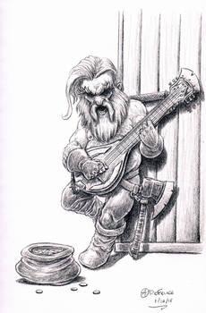 Dwarf Bard sketch