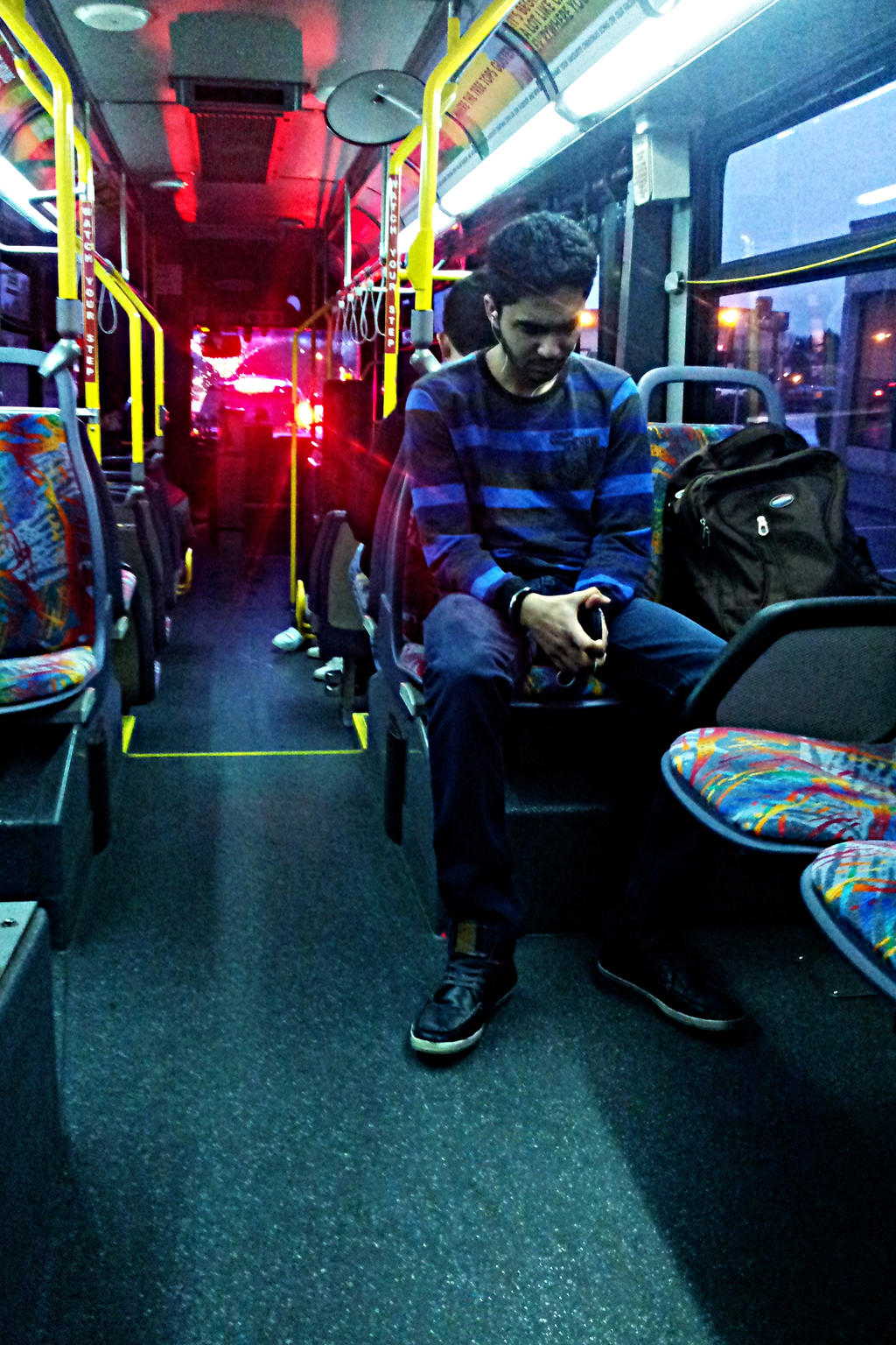Picture on the bus