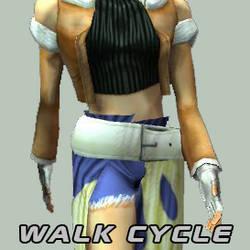CG Girl Walk Cycle