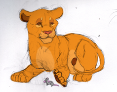 Simba Doodle by NstealthL