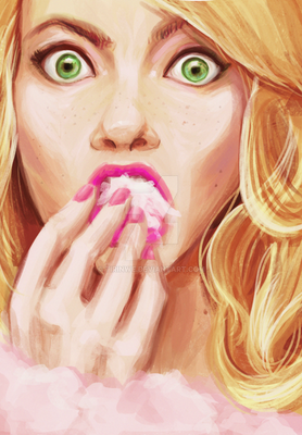 Emma Stone Eatin' Cotten Candy