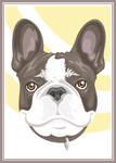 Stylized Pet Portrait - Guinness