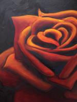 tattoo rose in oil by Magicmufinelf