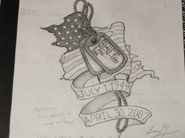 memorial dog tag tattoo by Magicmufinelf