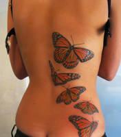 butterfly tattoo finished by Magicmufinelf