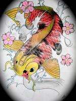 koi fish tattoo design by Magicmufinelf