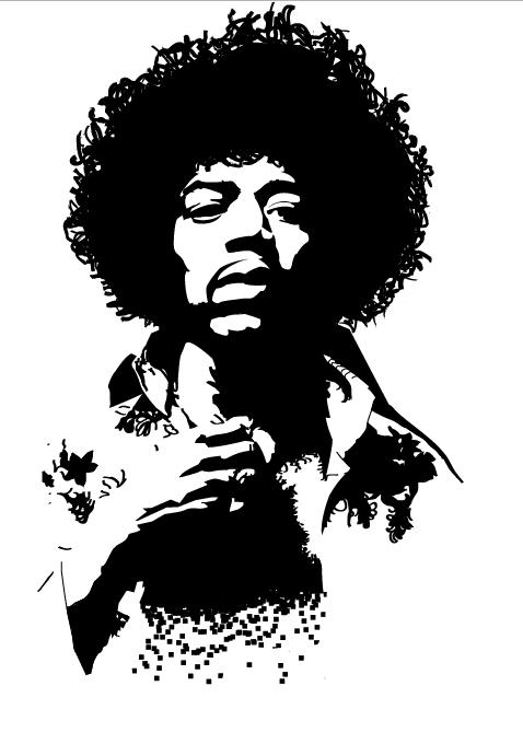 Jimi Hendrix Vectorized By Reinout D