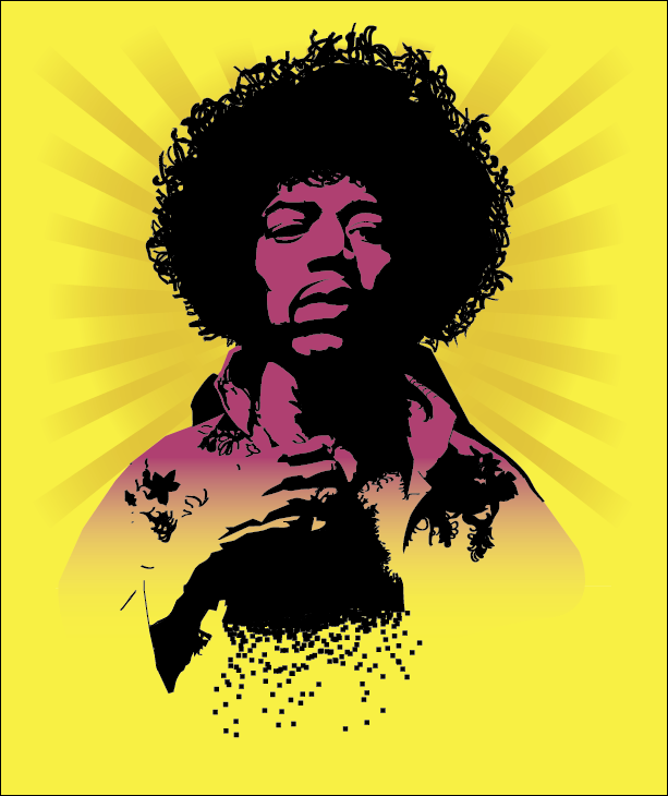 jimi hendrix vector in colorreinout--d on deviantart