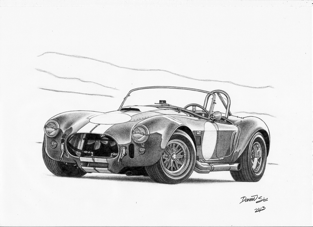 pictures of shelby cobra coloring pages