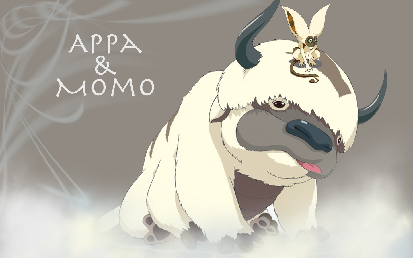 Awwww! Look at Aang and Appa, aren't they cute? Geekdom