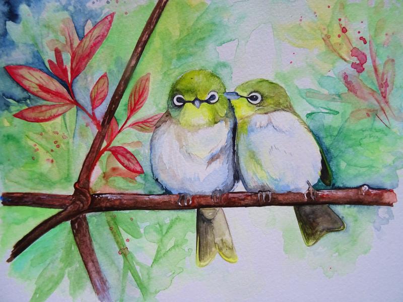 watercolour by o0WhiteRaven0o