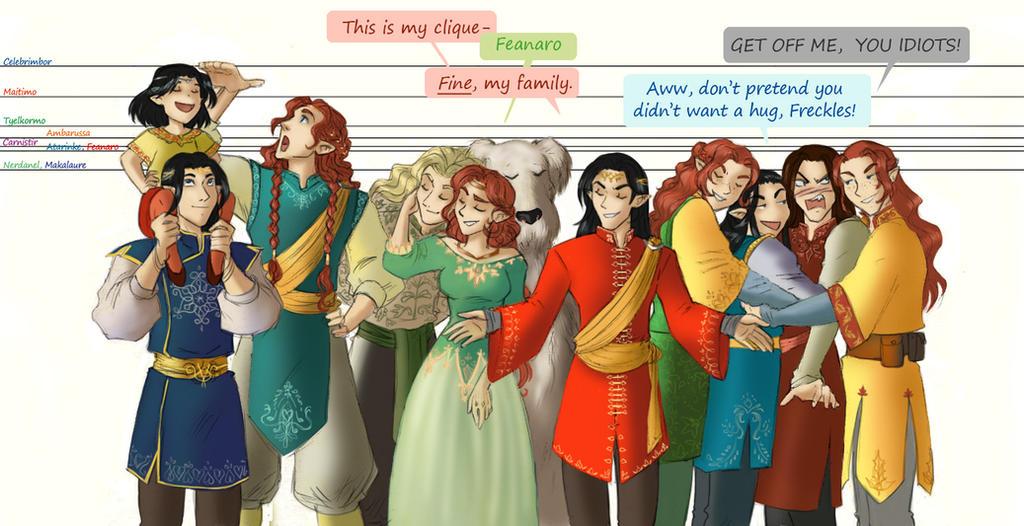 my clique by greenapplefreak