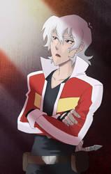 white haired rebel by greenapplefreak