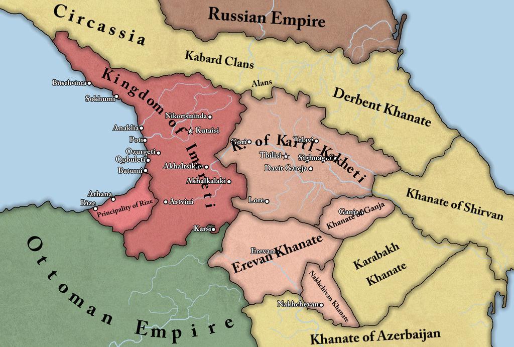 Map Of Kakheti Georgia.Kingdom Of Kartl Kakheti And Kingdom Of Imereti By Georgianmapping