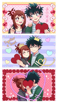 BNHA - IzuOcha - Valentine's Day - Purikura