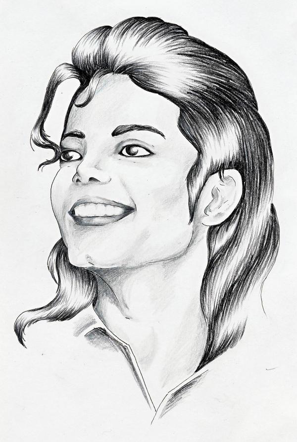 Portrait - Michael Jackson by LARvonCL on DeviantArt Easy Michael Jackson Drawing