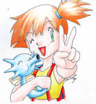 Misty and Horsea