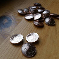 Copper coin buttons
