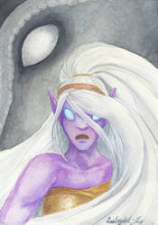 Kahli and Titan - aquarelle painting