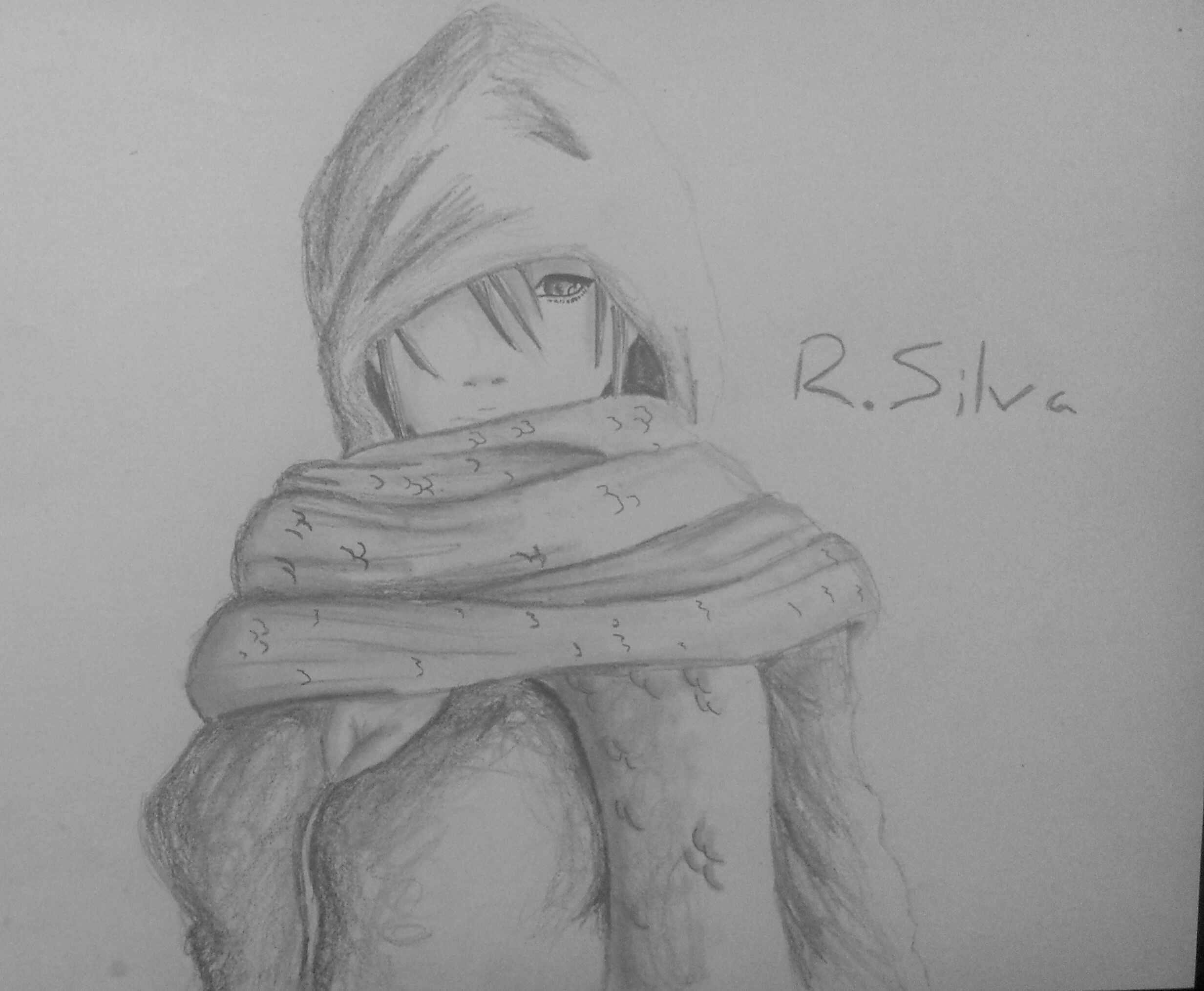 Anime girl with hoodie and scarf by rs1lva on deviantart