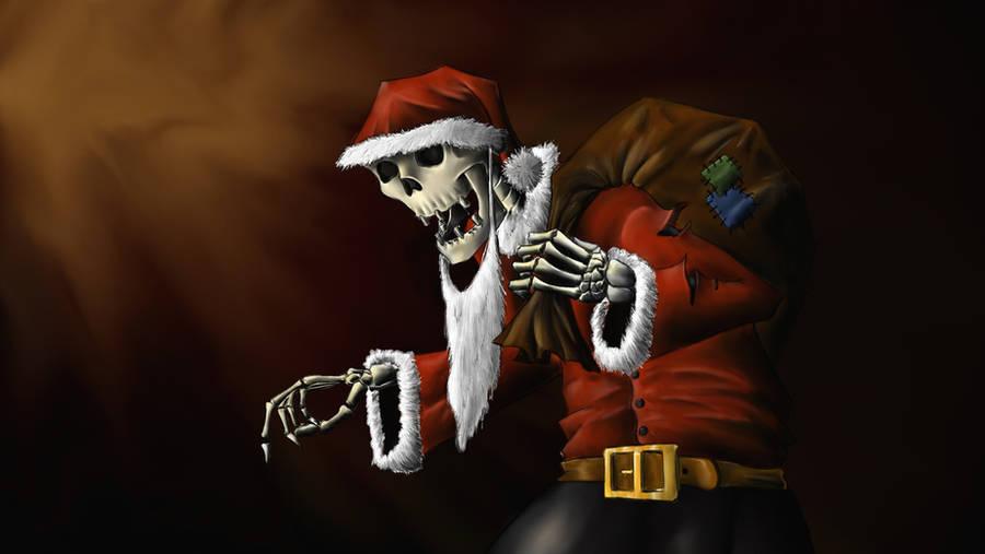 Santa Claus Skeleton by Metalchocobo87