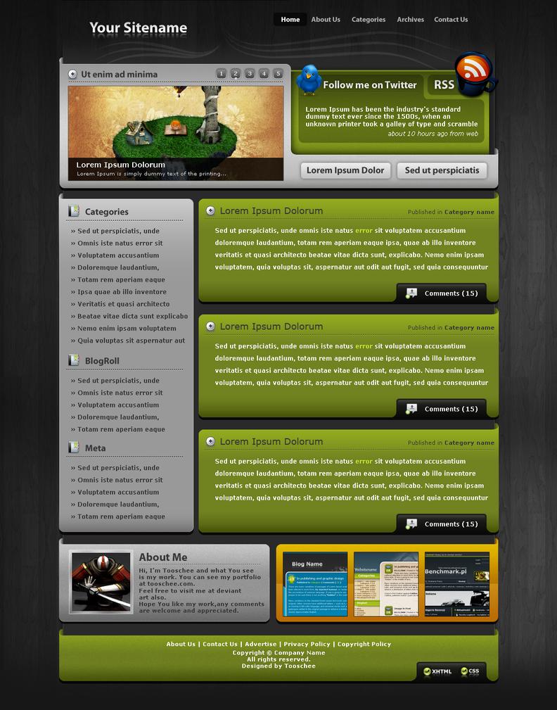 Wordpress Template 7 by Tooschee