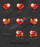 Hearts Icon Set by Tooschee