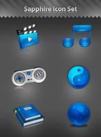 Sapphire Icon Set by Tooschee