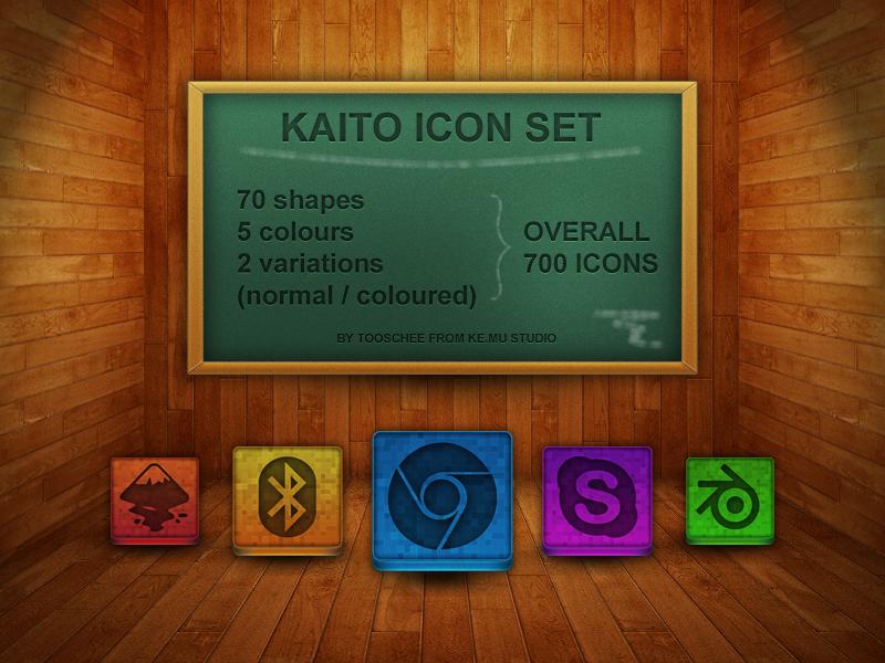 Kaito Icon Set by Tooschee