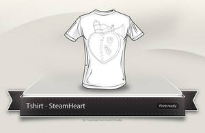 SteamHeart t-shirt by Tooschee