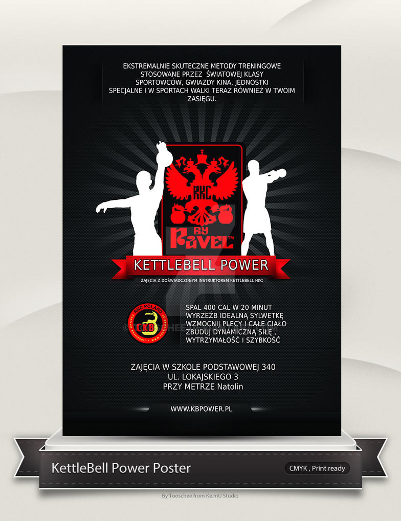 Kettlebell Instructor Poster by Tooschee
