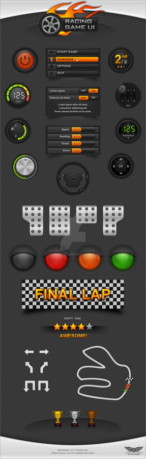 Racing Game UI