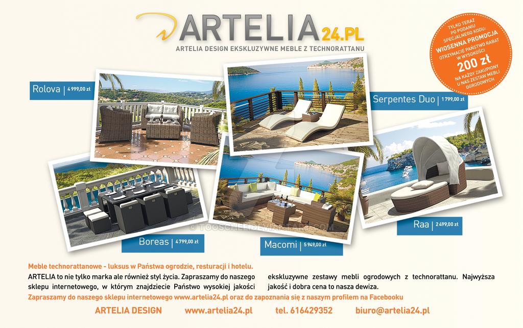 ARTELIA PRINT ADVERTISEMENT by Tooschee