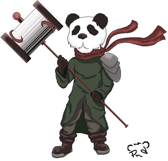 Panda Warrior by pandaz0rd