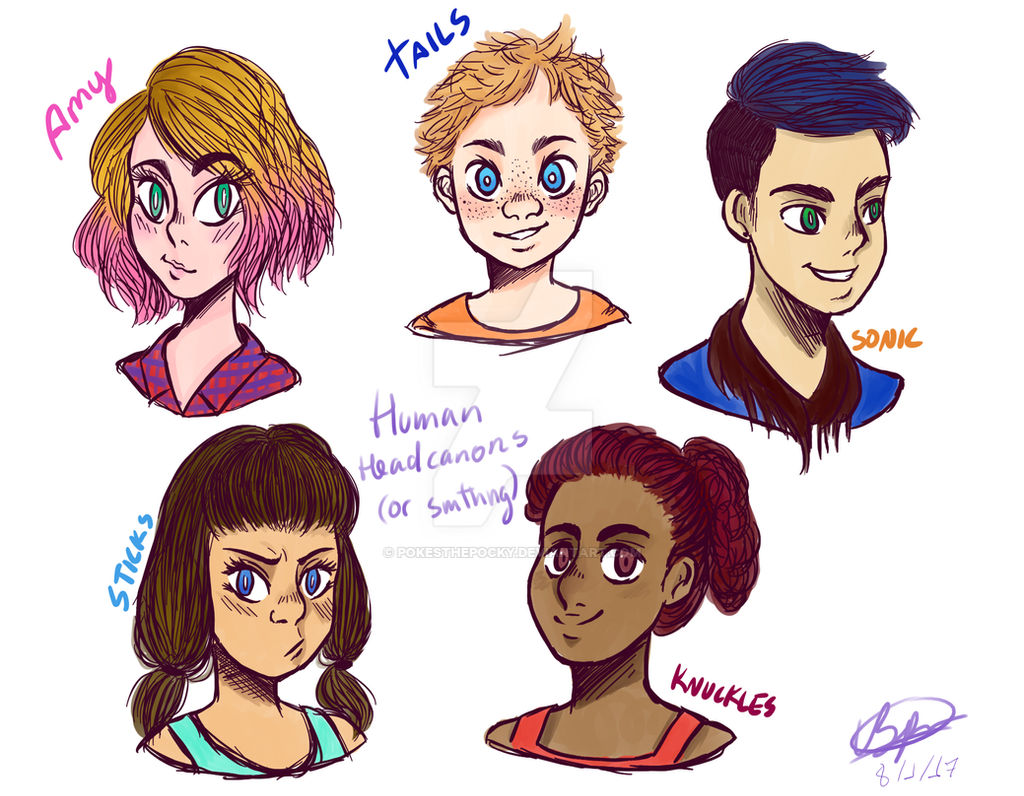 Sonic Boom: Human Headcanons by PokesThePocky on DeviantArt