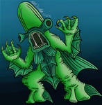 Monster In My Pocket: Bishop Fish (toy colour) by KingKevzilla