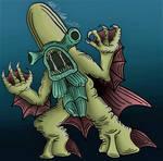 Monster In My Pocket: Bishop Fish by KingKevzilla