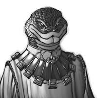 Exalted- Snakeman Portrait by ChristopherStevens