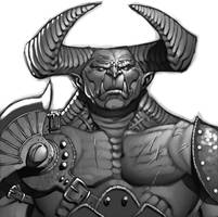 Exalted- Great Goblin Portrait by ChristopherStevens