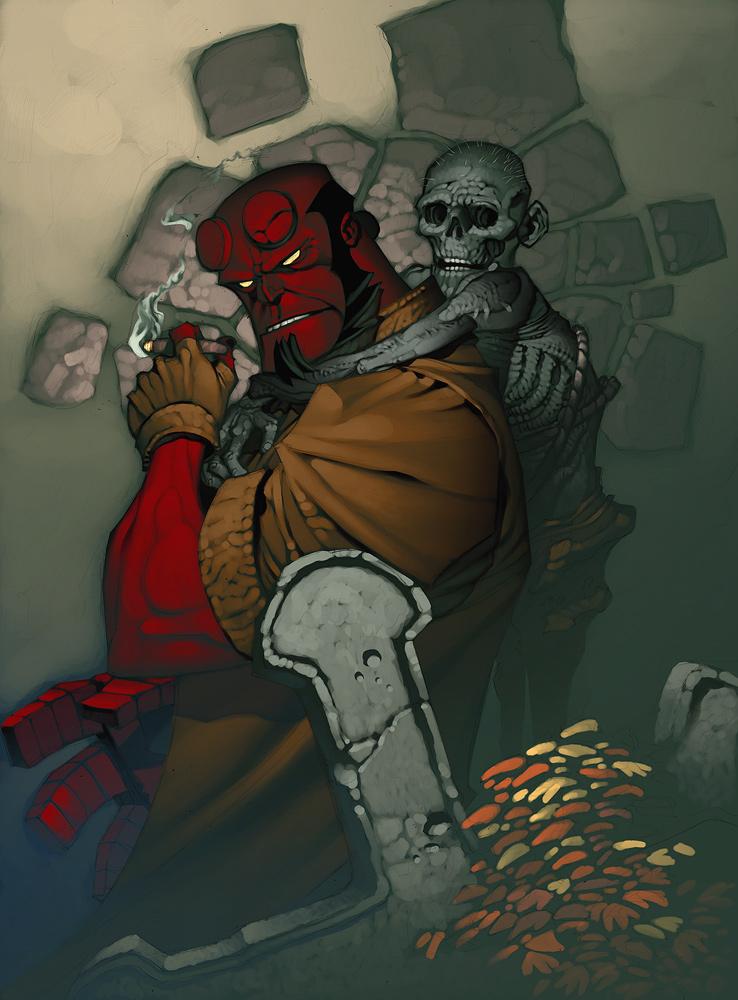 Hellboy Sketch Paints